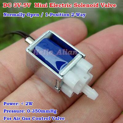 Dc3v-5v Mini Electric Solenoid Valve Normally Open Air Gas Control Exhaust Valve