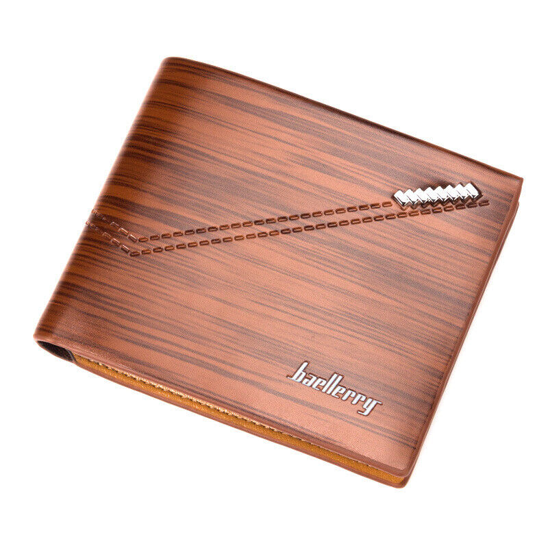 Mens Short Leather Bifold Wallet Purse ID Credit Card Holder Front Pocket US Clothing, Shoes & Accessories