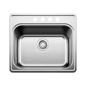 Blanco 401204 Essential Four Holes Drop In Utility Sink