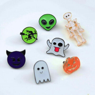 Cute Halloween Cartoons (Cute Halloween Enamel Brooch Lapel Pins Badge Cartoon Brooch Jewelry)