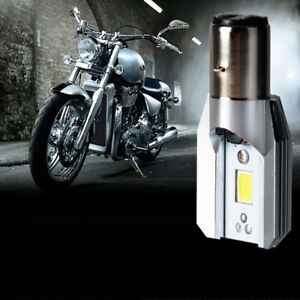 H6 DC 9V-85V 12W COB White LED Motorcycle Hi/Lo Beam Bulb