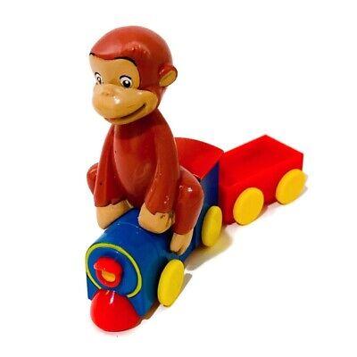 Curious George Monkey Train Engine Toy DecoSet Cake Decoration play Marvel