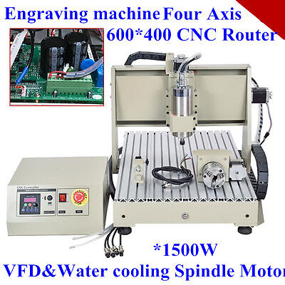 Cnc 6040 Router 1.5kw 4 Axis Engraver Metal Carving Machine Mach3 Control