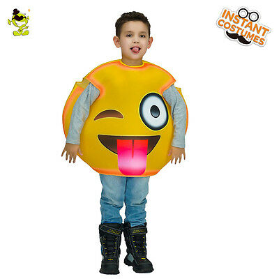Popular Tongue Emoji Costume Kid Cute Naughtiness Emoticon Fancy Dress for Party - Popular Kids Costume