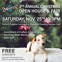 Manitoba Mutts Dog Rescue Christmas Open House & Craft Fair