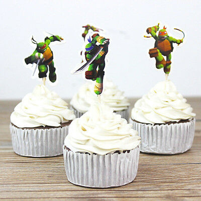 TMNT ( Ninja turtles) Theme Party Decorative Cupcake Topper(Serve24)FAST SHIP - Ninja Turtles Party Decorations
