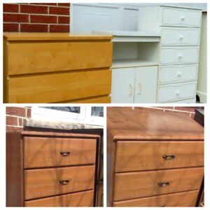 3 WOOD DRESSERS MICROWAVE STAND I DELIVER