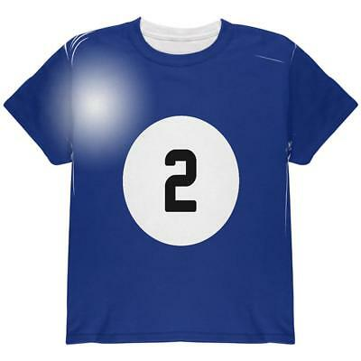 Halloween Billiard Pool Ball Two Costume Youth T Shirt - Pool Halloween