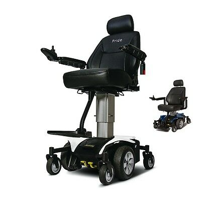 Pride JAZZY AIR Powerchair Elevating Seat Height Pride Electric Wheelchair, Whit
