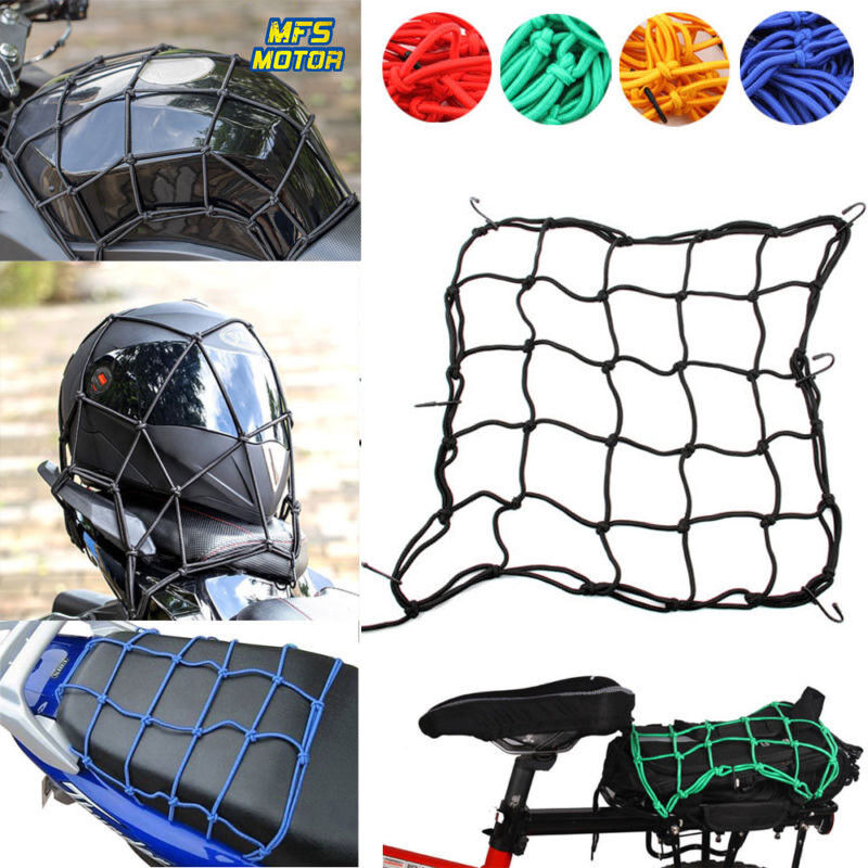 Helmet & Visor Bags Automotive Elastic Bungee Net Holder Motorcycle Storage Helmet Tank Bike Luggage Hook Mesh