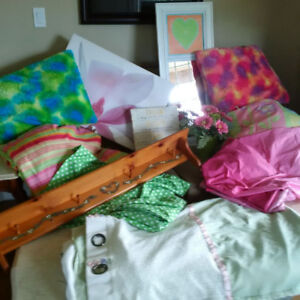 Two Twin Bedding and Accessories