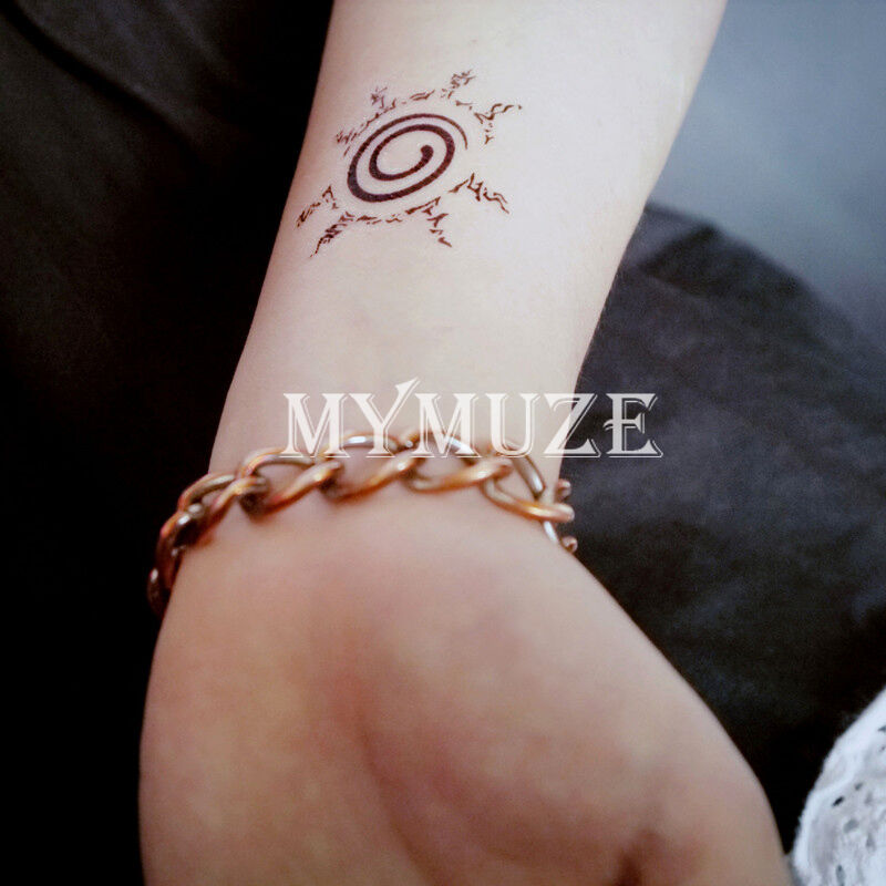 Naruto Kurama Kyuubi Nine Tails Seal Cosplay Tattoo Sticker Ebay