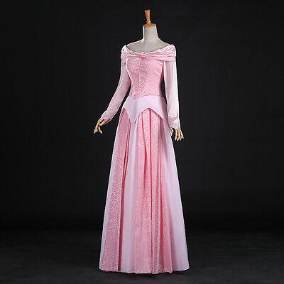 Disney Dornröschen Kostüme (Dornröschen Sleeping Beauty Aurora Disney Cosplay Kostüm Kleid lang long Märchen)