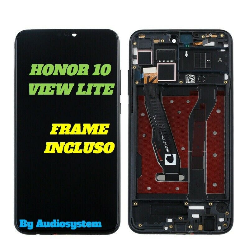 DISPLAY LCD TOUCH SCREEN +FRAME HUAWEI HONOR 10 VIEW LITE SCHERMO VETRO JSN-L21