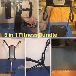 5 in 1-Multi Station Gym,Treadmill, Butt Shaper,Arm Press & Mats Hillcrest Logan Area Preview