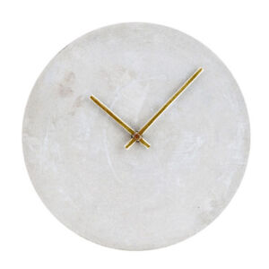 Marble Wall Clock (Black,white)