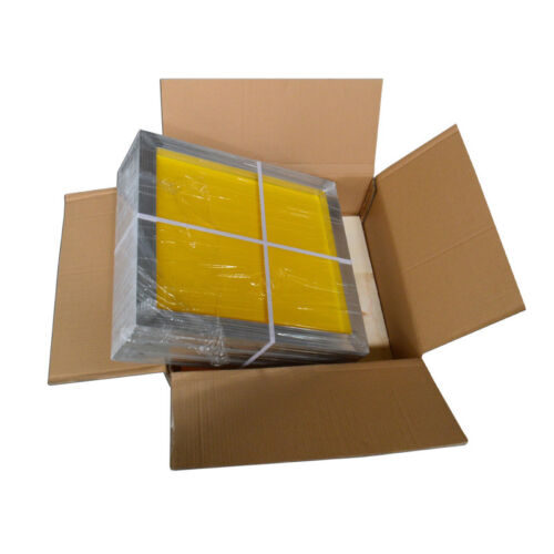 6 pcs Stretched Aluminum Screen Frame with Screen Mesh Silk Screen Printing