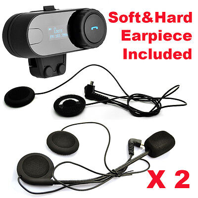Portable TCOM-SC Bluetooth Motorcycle Helmet 800M Intercom Headset+Soft Earpiece