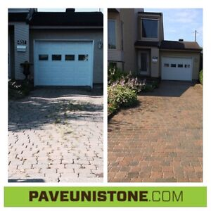 HIGH PRESSURE CLEANING OF DRIVEWAYS & UNISTONE & CONCRETE West Island Greater Montréal image 9