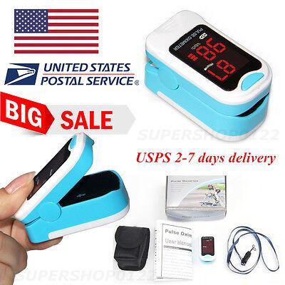 Us Portable Led Fingertip Pulse Oximeter Oxygen Spo2 Monitorcarry Caselanyard