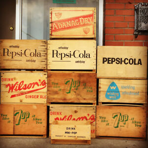 Pop  Soda Fountan Soda Pop Vintage Crates