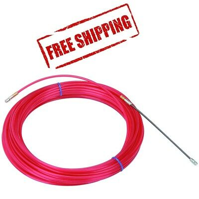 50 Ft Nylon Fish Tape Electrical Cable Puller No Kink Red Electricianconduit