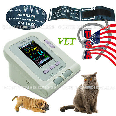 Us Digital Veterinary Blood Pressure Monitornibp Heart Beat Metervet Cuffnew