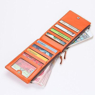 Women's Bifold Leather Credit Card Holder Billfold Wallet Purse Checkbook Clutch ()