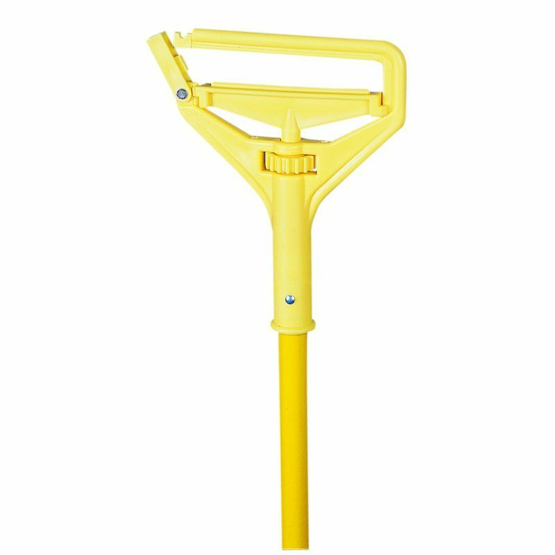 "Nassco Pro Series Quick Change Wet Mop Handle, 60"" Yellow Fiberglass Handle 1 Ea"