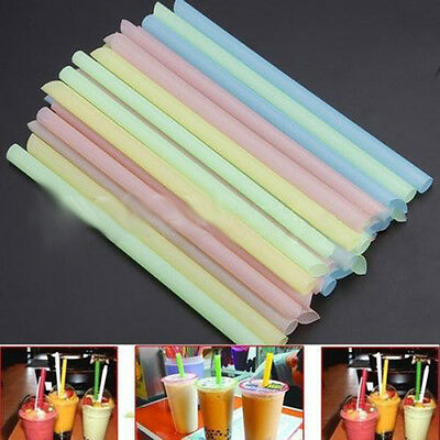 33Pcs/Bag Milk Tea Powder Pearls Drinking Plastic Straw Bubble Party Supply