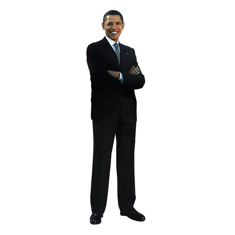BARACK OBAMA v2 President Lifesize CARDBOARD CUTOUT Standup Standee Poster