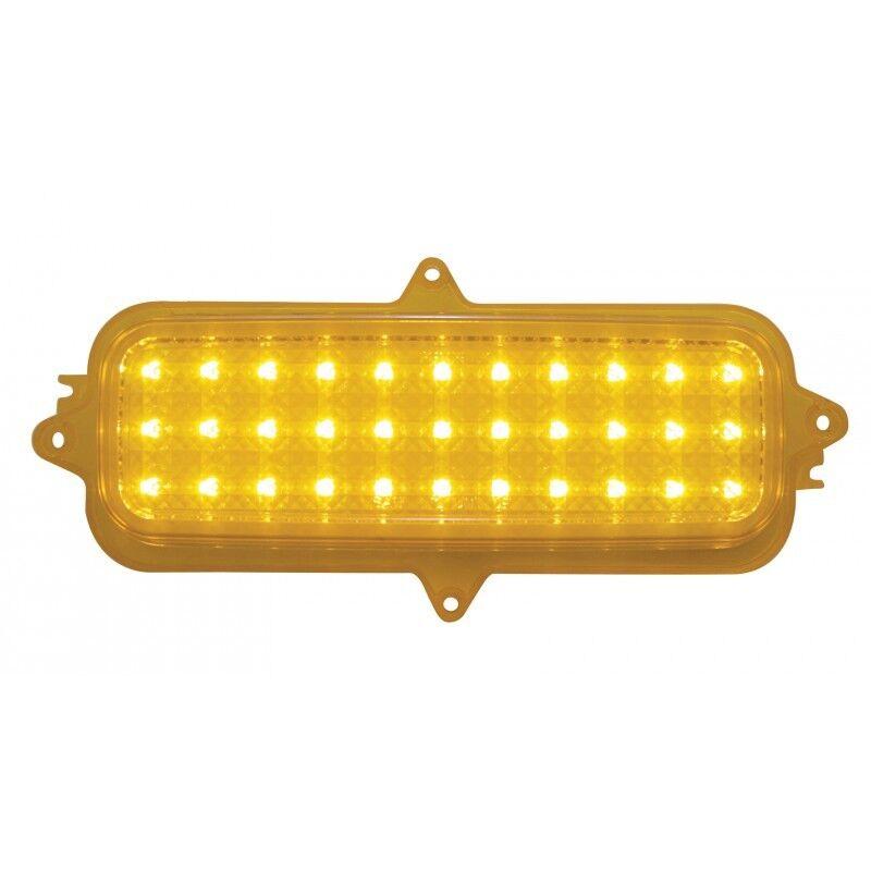1960-66 CHEVY GMC LED PARKING LIGHT LENSES AMBER SET OF 2 W FREE FLASHER
