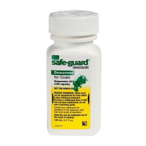 Safe-Guard Goat Oral Liquid Dewormer 125ml Fenbendazole 10% 100mg per ml