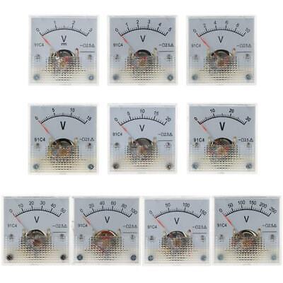 91c4 Dc Voltmeter Analog Panel Voltage Meter Mechanical Pointer Type 3-250v