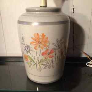 Large Floral Ceramic lamp base