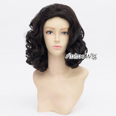 Anime Black Curly Men Short Curly 35cm for Snow Black Cosplay - Mens Short Black Wig