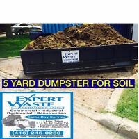 DUMPSTERS* Soil-Concrete-Brick-Asphalt Removal *416-771-1253