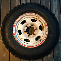 1980-86 Toyota truck/ 4Runner rims with tires.