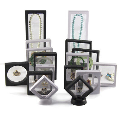 - Jewelry Ring Pendant Necklace 3D Floating Suspended Display Stand Holder