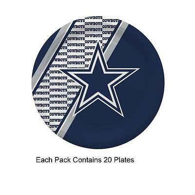 New 20pc NFL Disposable Party Supplies Paper Plates Dallas - Dallas Cowboys Party Supplies