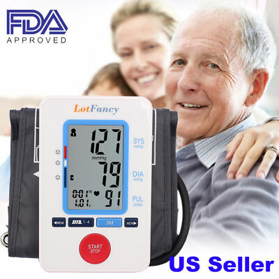 High Blood Pressure Monitor Large Size Upper Arm BP Cuff Machine Kit Health Care
