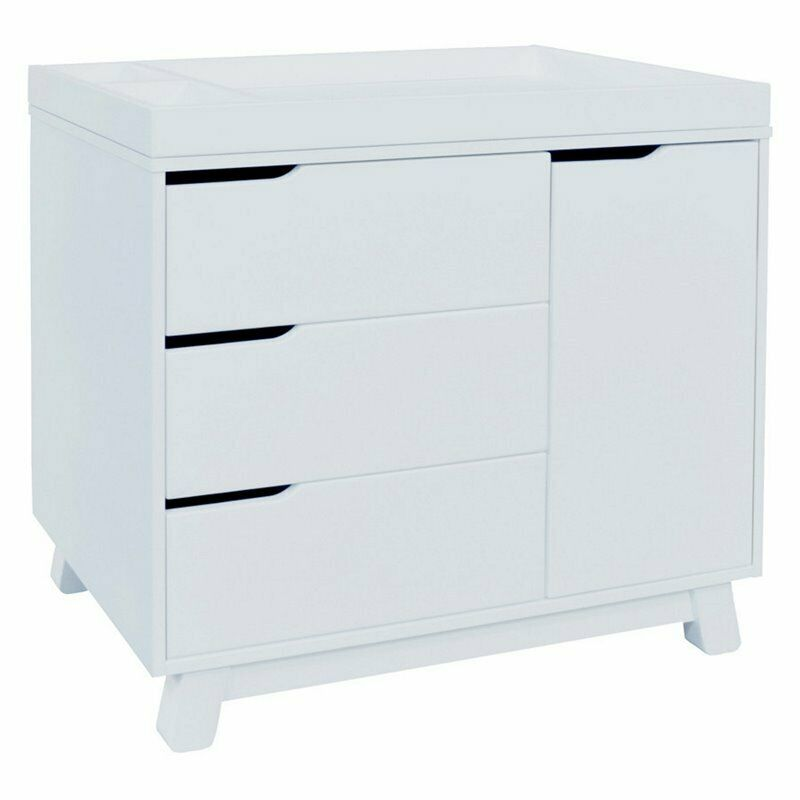 Babyletto Hudson 3 Drawer Dresser with Removable Changing Tray in White