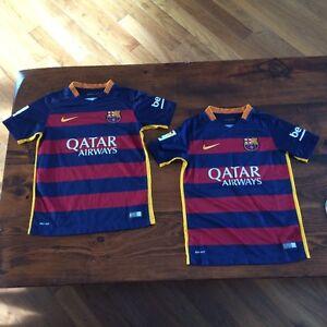 FC Barcelona Soccer Jerseys $40.00 each Stratford Kitchener Area image 1