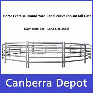 18m Diameter Horse Exercise Round Yard incl.3m tall Gate Fyshwick South Canberra Preview