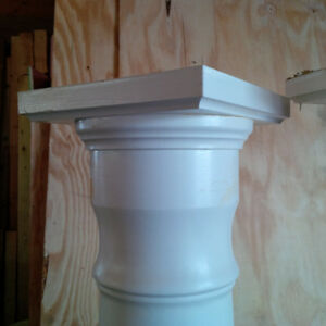 """8"""" wood columns x 65"""" tall. $100.00 for the pair"""
