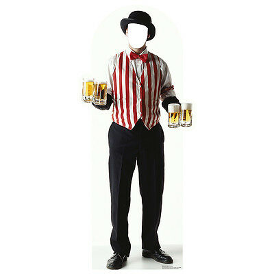 BARTENDER / BEER SERVER Stand-In CARDBOARD CUTOUT Standin Standup Standee Prop - Circus Stand In Cutouts