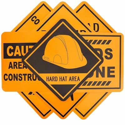 Construction Party Signs (16-Pack Under Construction Zone Sign Cutouts for Kids, Party, Assorted, 12 x)