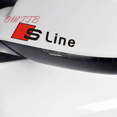c10zw, S Line Mirror stickers sline Emblem audi car sticker 2pc.