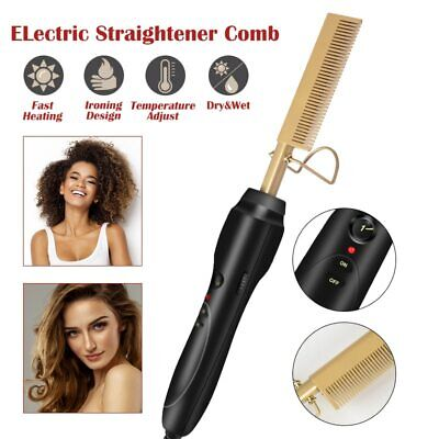 Gold N Hot Electric Straightening Comb High Heat Press Hair Styling Straightener Gold N Hot Comb