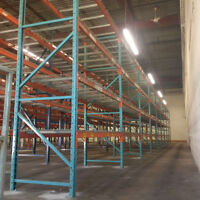 We buy used pallet racking and industrial shelving.